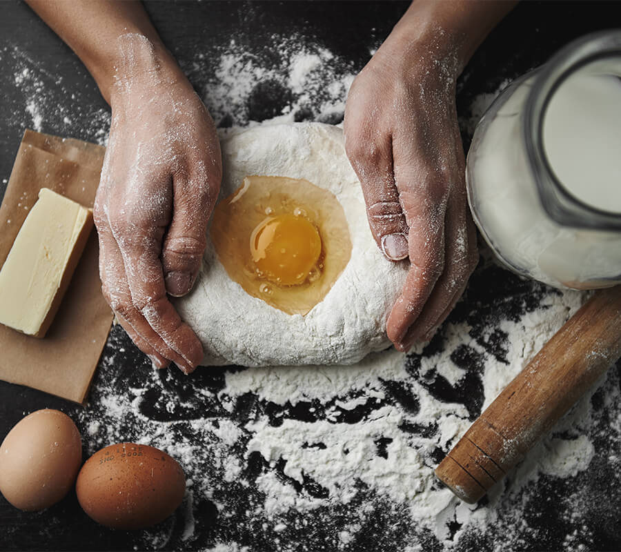 a chef busy making